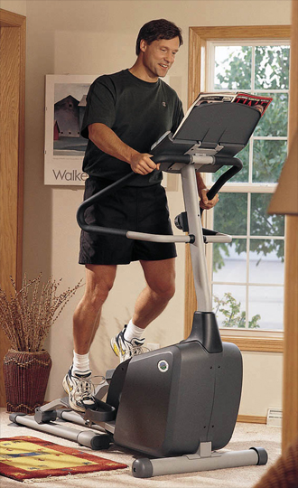 Fitness equipment design elliptical trainer