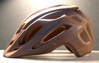 clay model of helmet