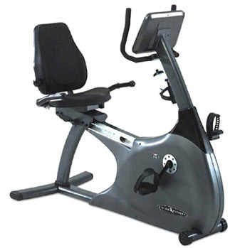 Recumbent fitness bike design