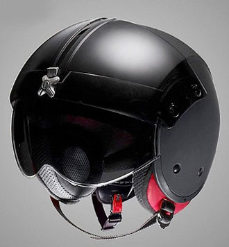 Jet fighter style motorcycle helmet